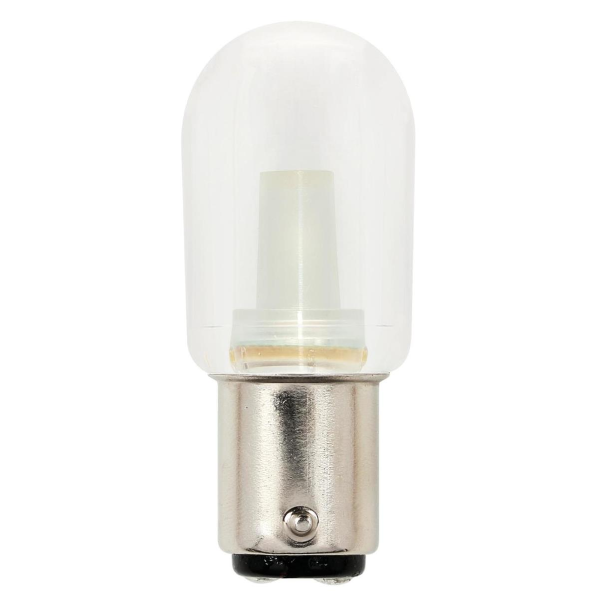1.5W T7 LED Clear 2700K D.C. Bayonet Base, 120 Volt, Card