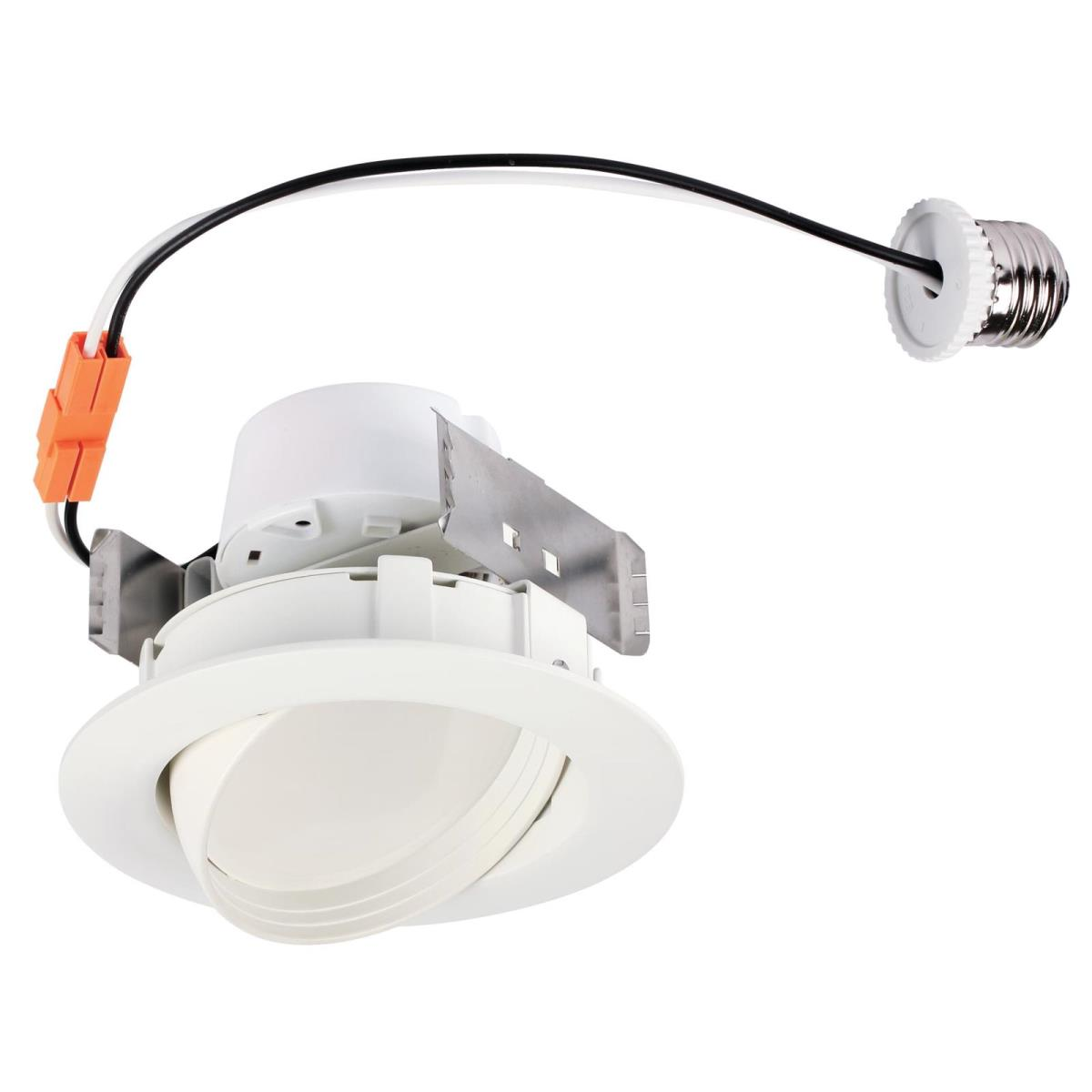 "10W Sloped Recessed LED Downlight 4"" Dimmable 3000K E26 (Medium) Base, 120 Volt, Box"