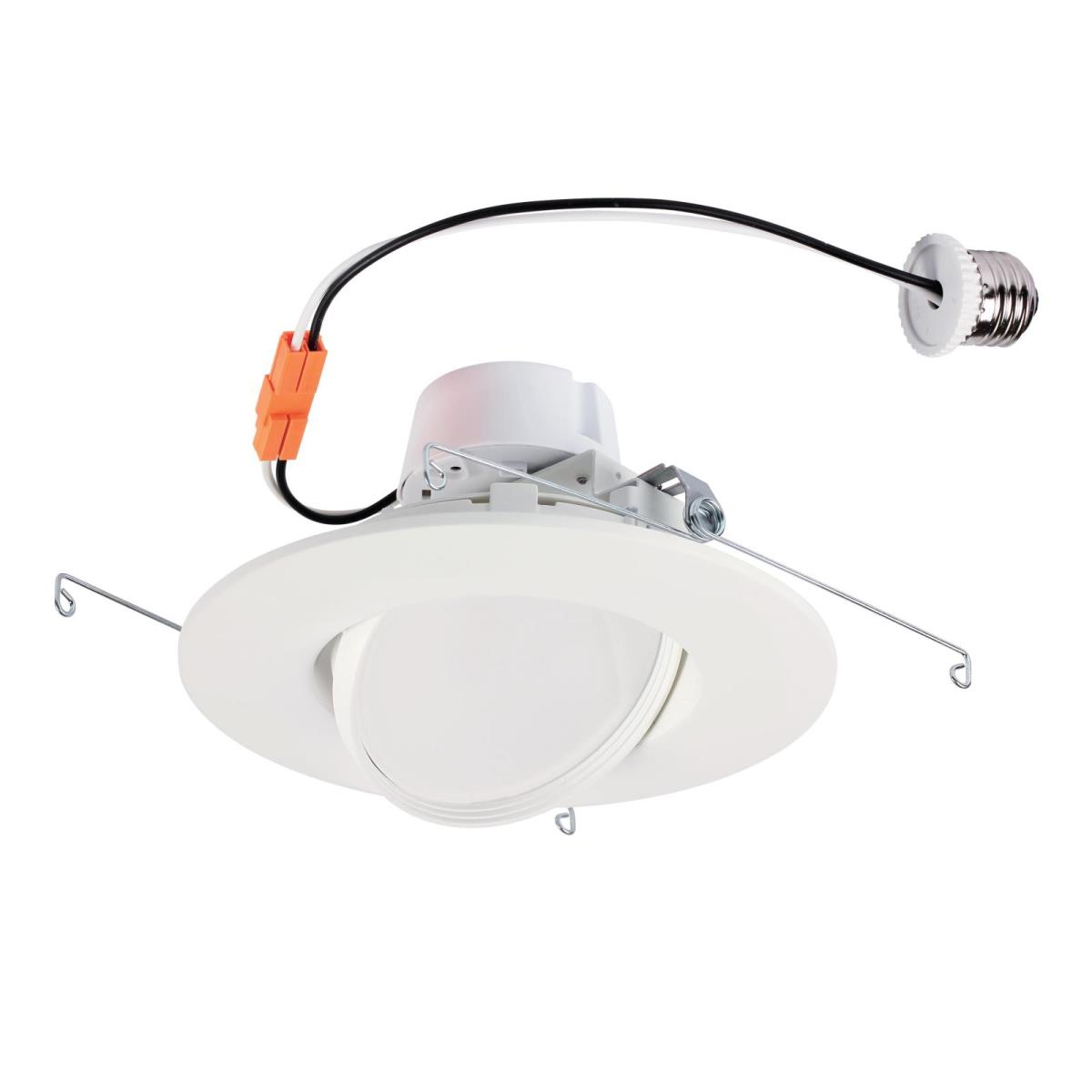 "13W Sloped Recessed LED Downlight 6"" Dimmable 2700K E26 (Medium) Base, 120 Volt, Box"
