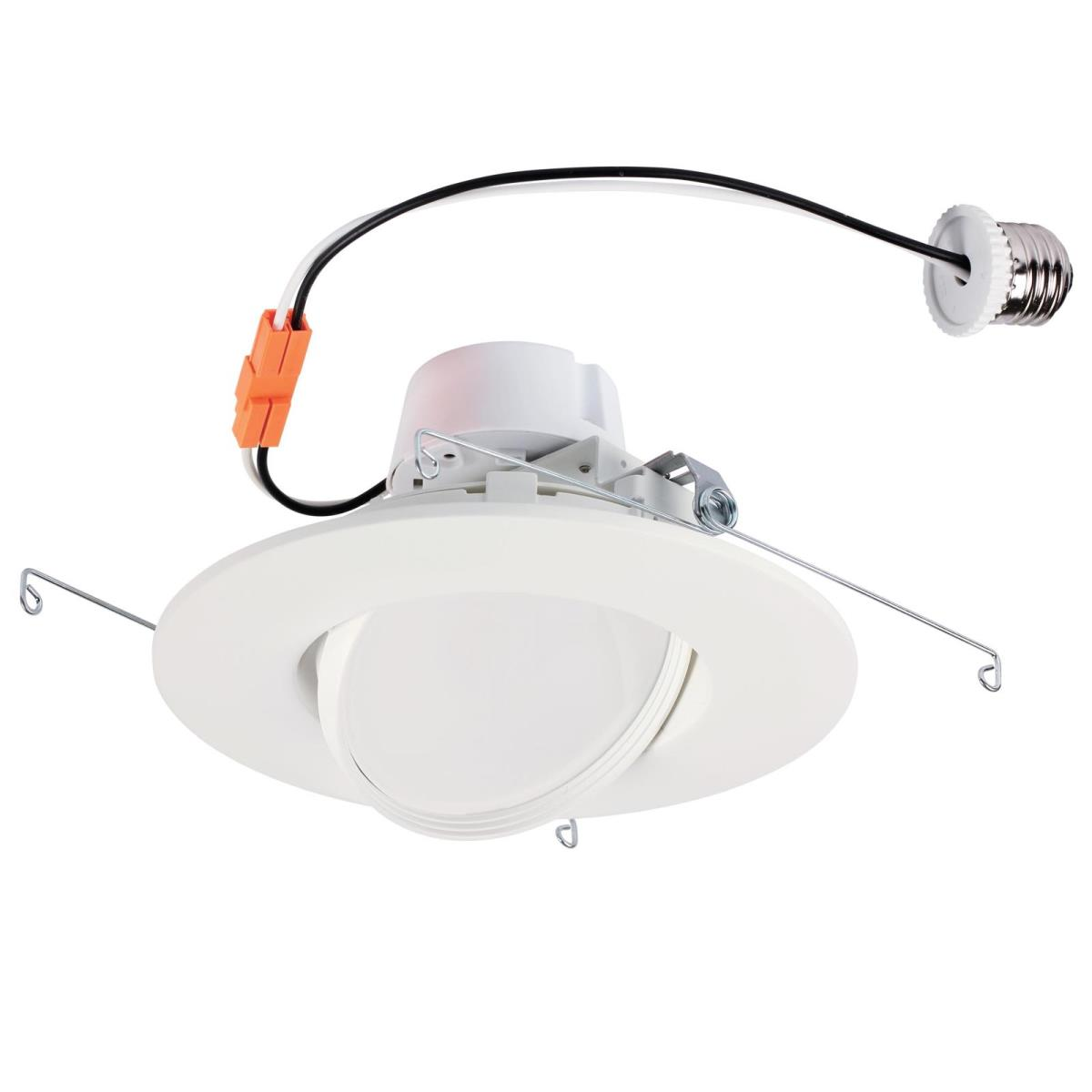 "13W Sloped Recessed LED Downlight 6"" Dimmable 3000K E26 (Medium) Base, 120 Volt, Box"