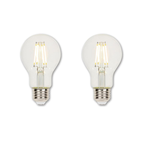 4.5W A19 Filament LED Dimmable Clear 2700K E26 (Medium) Base, 120 Volt, Box, 2-Pack