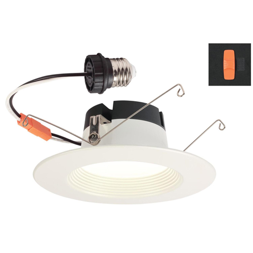 11W Color Choice Recessed LED Downlight 5-6 in. Dimmable 2700K, 3000K, 3500K, 4000K, 5000K E26 (Medium) Base, 120 Volt, Box