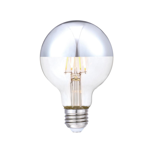 4.5W G25 Filament LED Dimmable Half Chrome 2700K E26 (Medium) Base, 120 Volt, Box