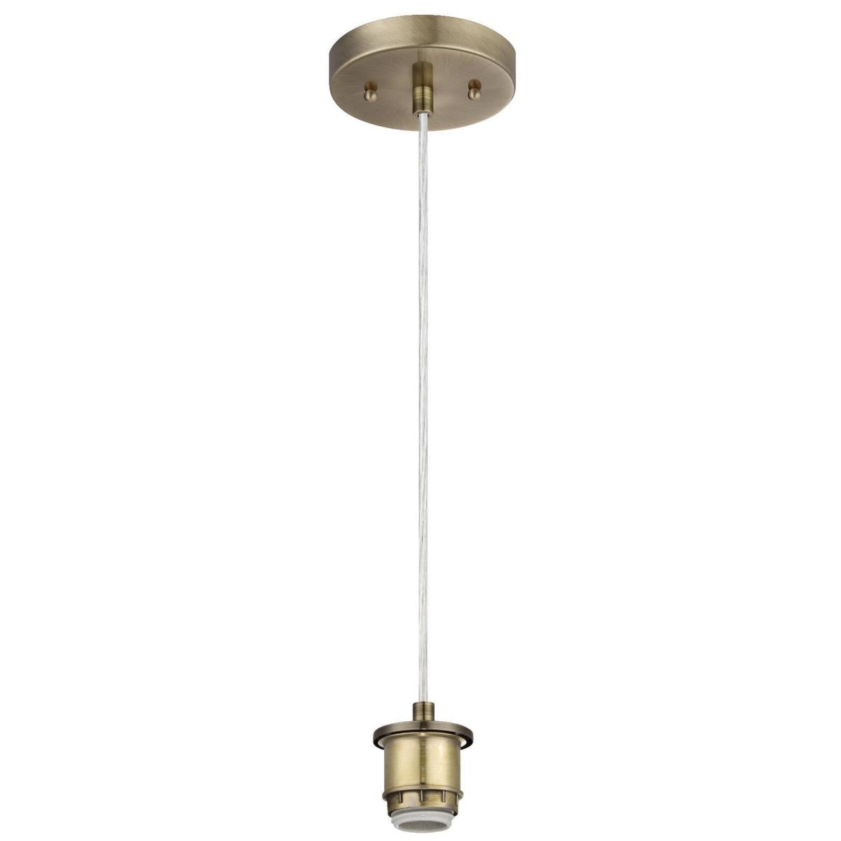 1 Light Adjustable Mini Pendant Antique Brass Finish