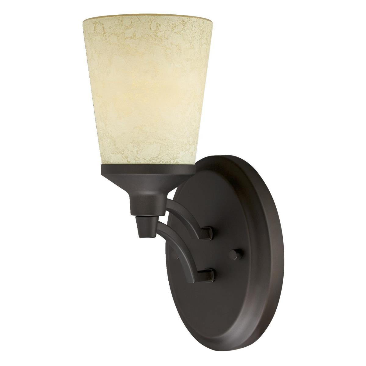 1 Light Wall Oil Rubbed Bronze Finish with Smoldering Scavo Glass