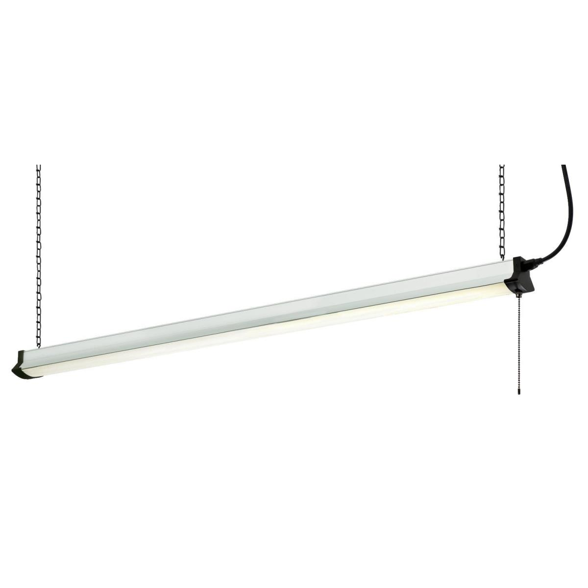 "48"" LED Shop Light Silver Finish with Frosted Lens"