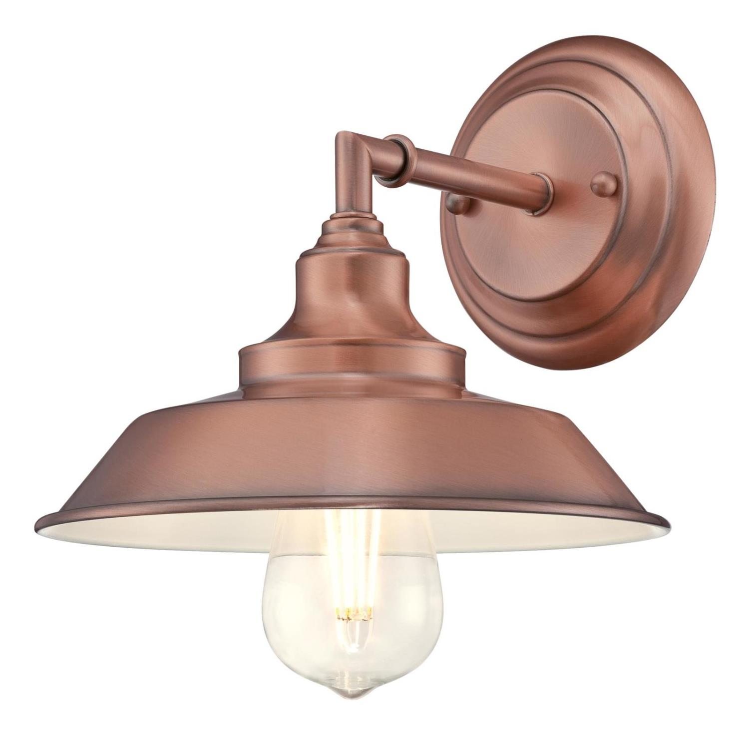 1 Light Wall Fixture Washed Copper Finish