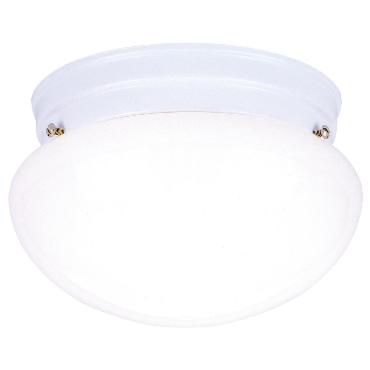 1 Light Flush White Finish with White Glass