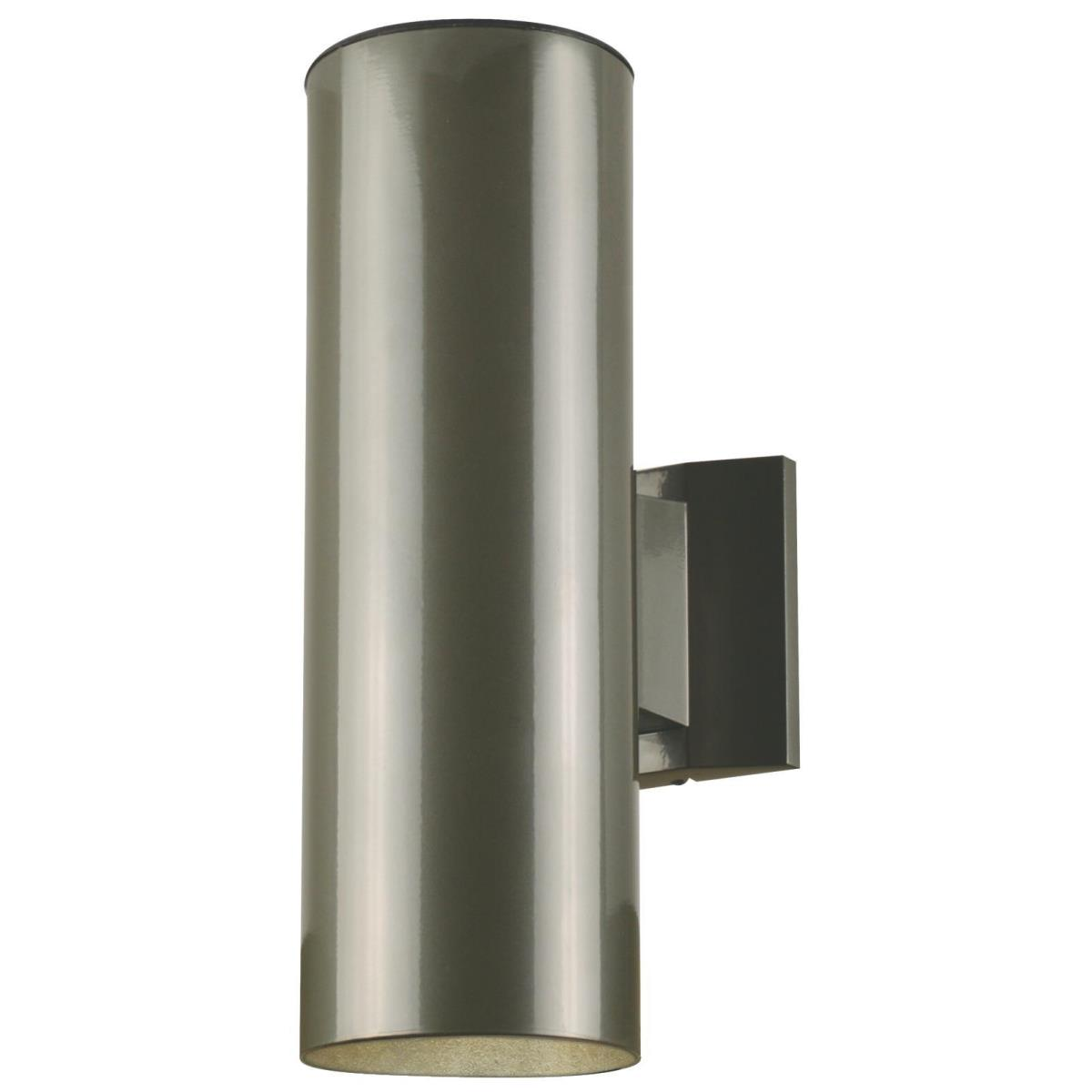 2 Light Up and Down Light Wall Fixture Polished Graphite Finish