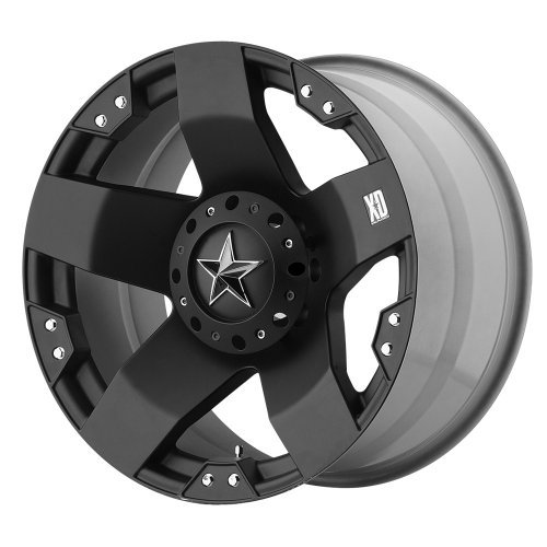 XD775 Rockstar, 20x10 with 5 on 5 and 5 on 135 Bolt Pattern - Matte Black