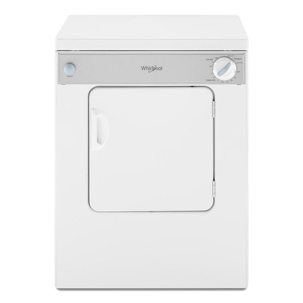 22IN COMPACT DRYER, 3.4 CU FT, SIDE SWING DOOR, 3 CYCLES, 2 TEMPS, ACCUDRY, 120