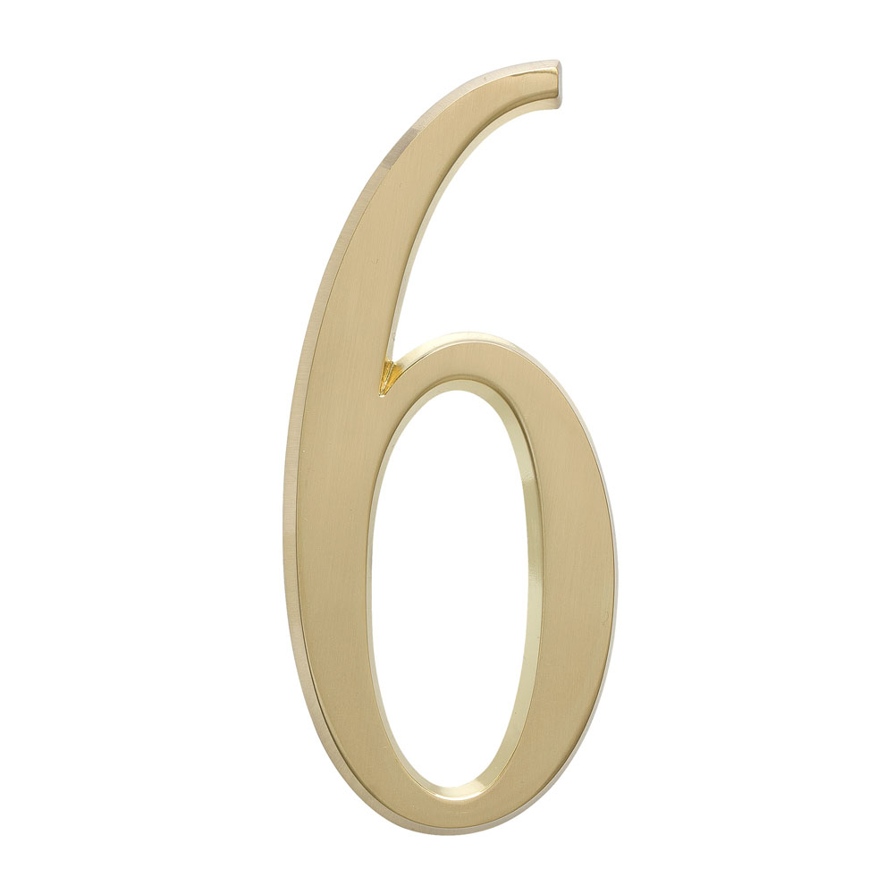 "4.75"" Number 6 Satin Brass"