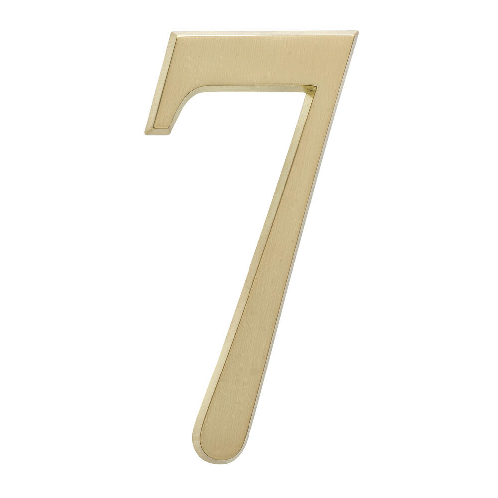 "4.75"" Number 7 Satin Brass"