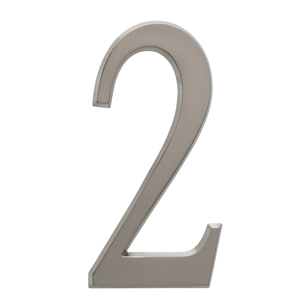 "4.75"" Number 2 Brushed Nickel"
