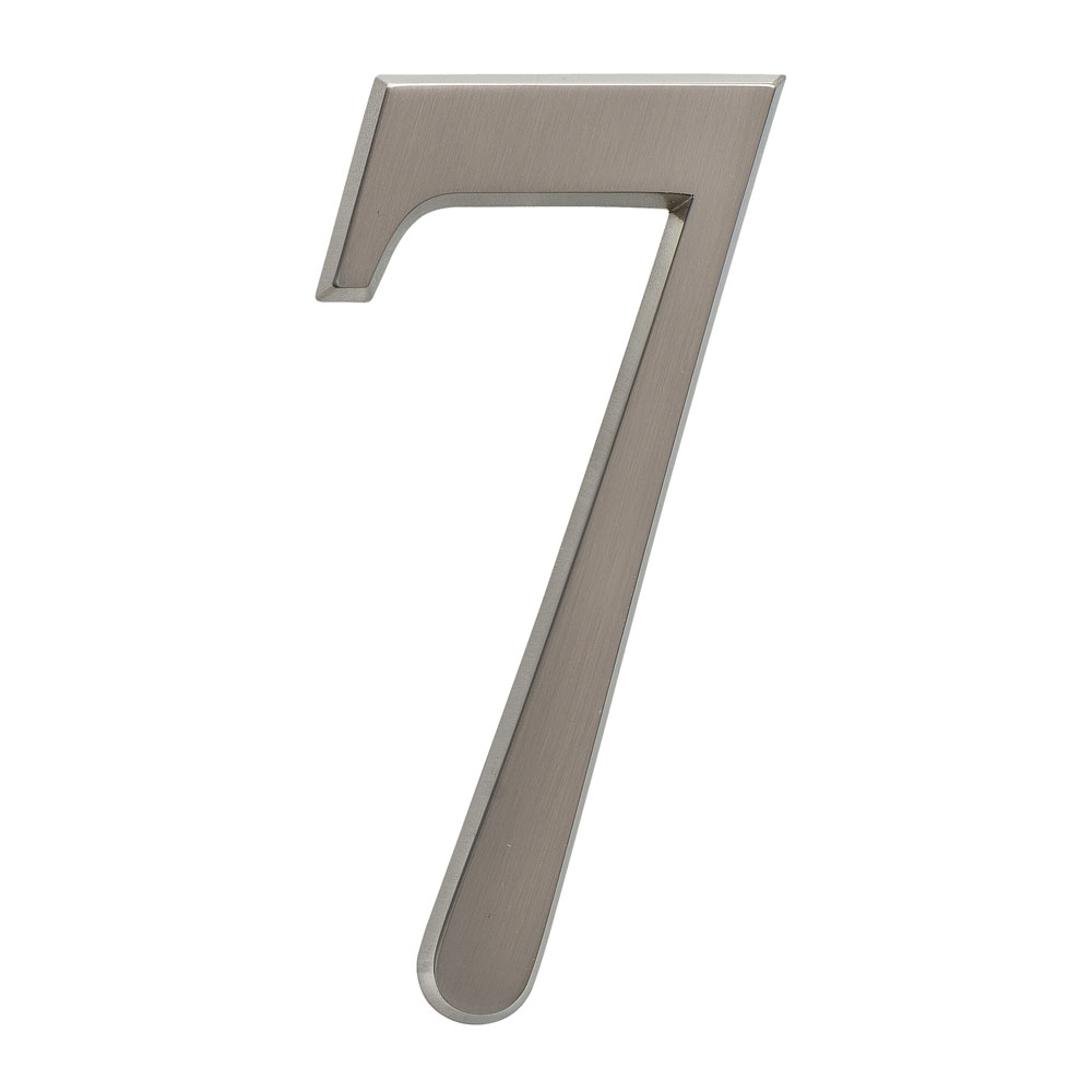 "4.75"" Number 7 Brushed Nickel"