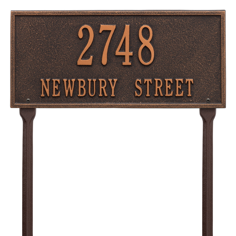 Hartford Plaque - Standard Lawn - Two Line - Oil-Rubbed Bronze