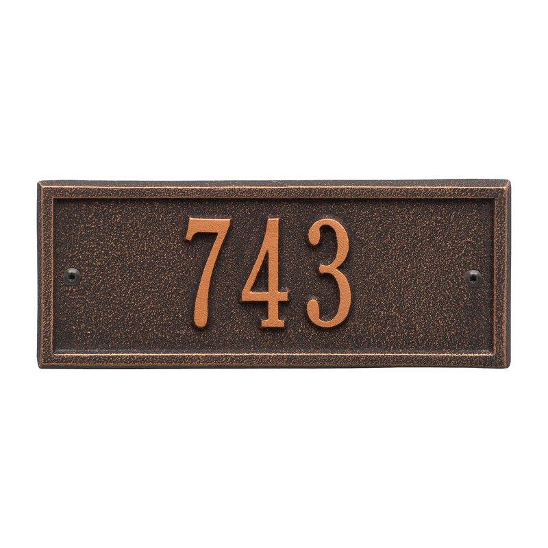 Hartford Plaque - Petite Wall - One Line - Oil-Rubbed Bronze