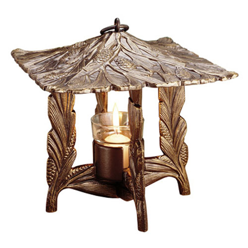 Pinecone Twilight Lantern - French Bronze