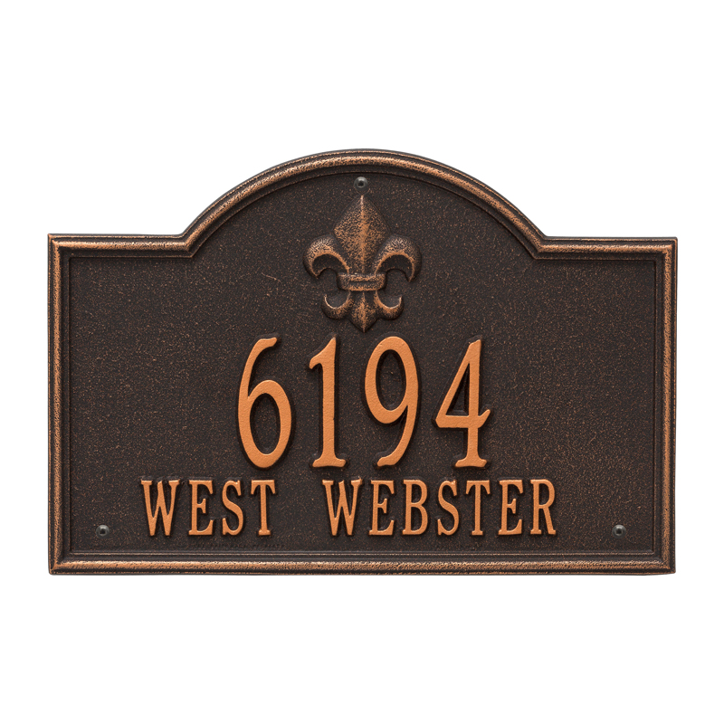Bayou Vista Plaque - Standard Wall - Two Line - Oil Rubbed Bronze