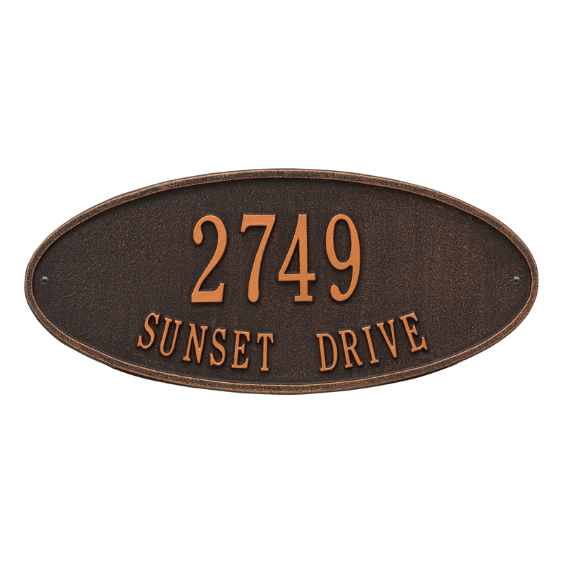 Madison Oval - Standard Wall - Two Line - Oil-Rubbed Bronze