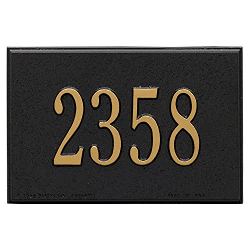 Wall Mailbox Plaque - Black - One Line