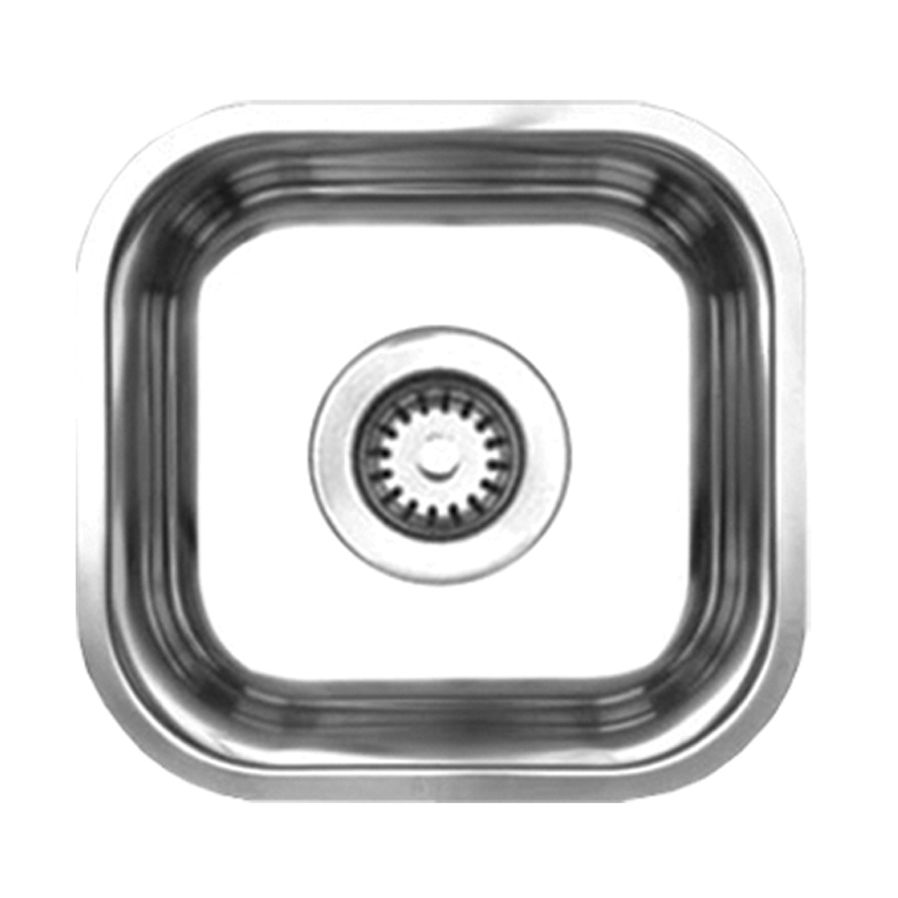 Whitehaus Collection Noahs Collection Brushed Stainless Steel single bowl undermount sink-Brushed Stainless Steel-WHNU1212