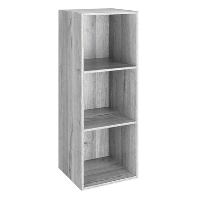 3 Section Cube Organizer Gray