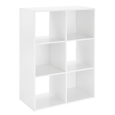6 Section Cube Organizer White