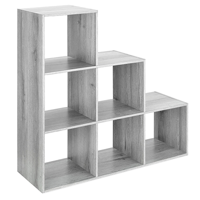 6 Section Step Organizer Gray