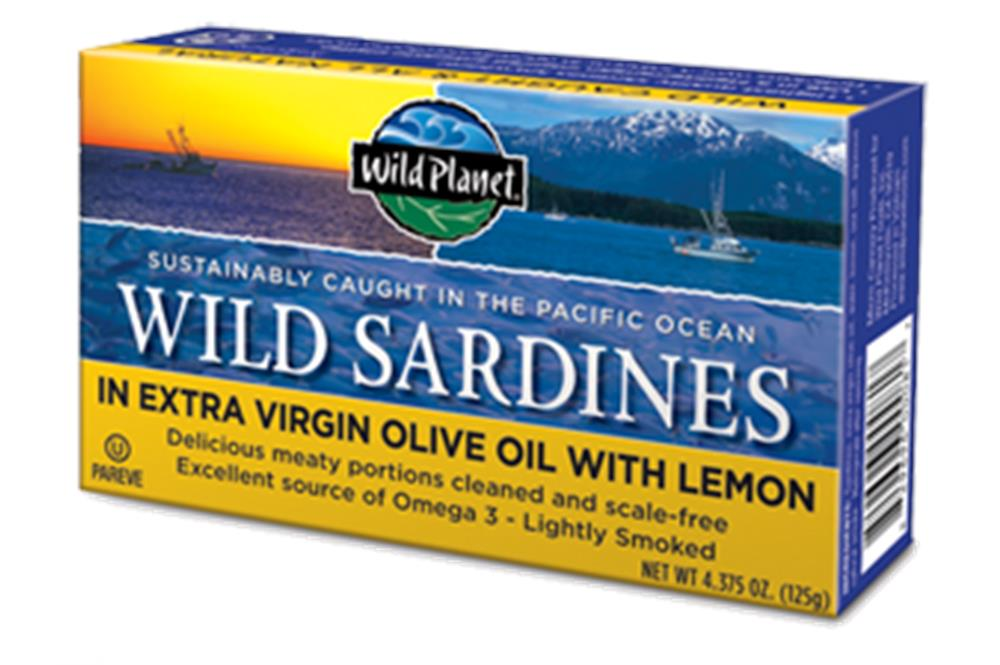 Wild Planet - Sardines In Olive Oil With Lemon ( 12 - 4.375 OZ)