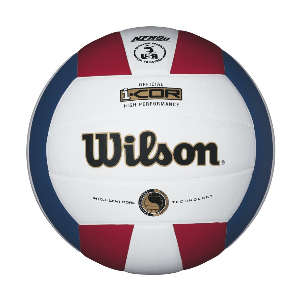 Wilson i-COR High Performance Volleyball Red/White/Blue