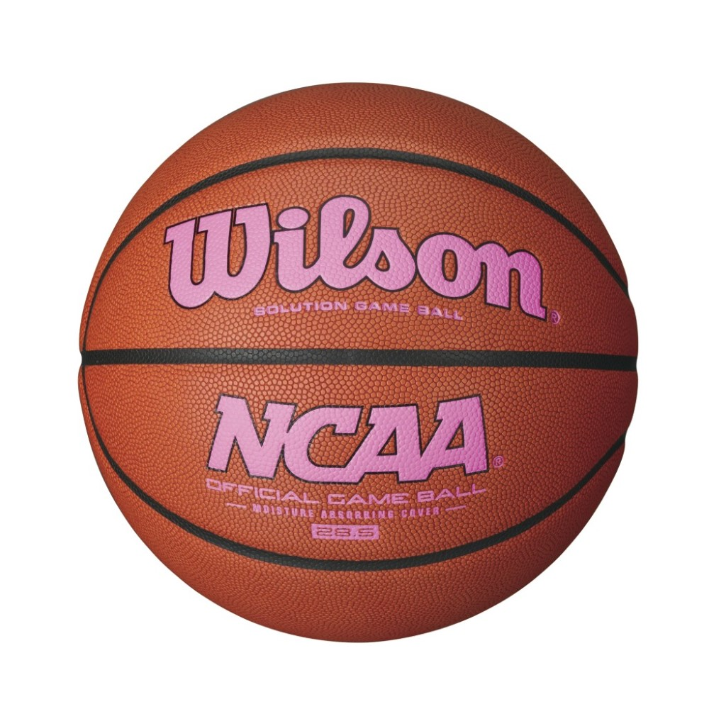 Wilson NCAA Intermediate Size Game Basketball Pink Logo