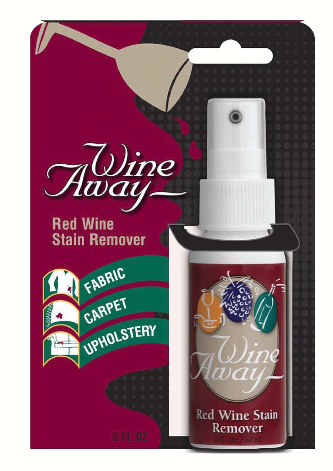 Red Wine Stain Remover on Header Card (2 oz bottle)