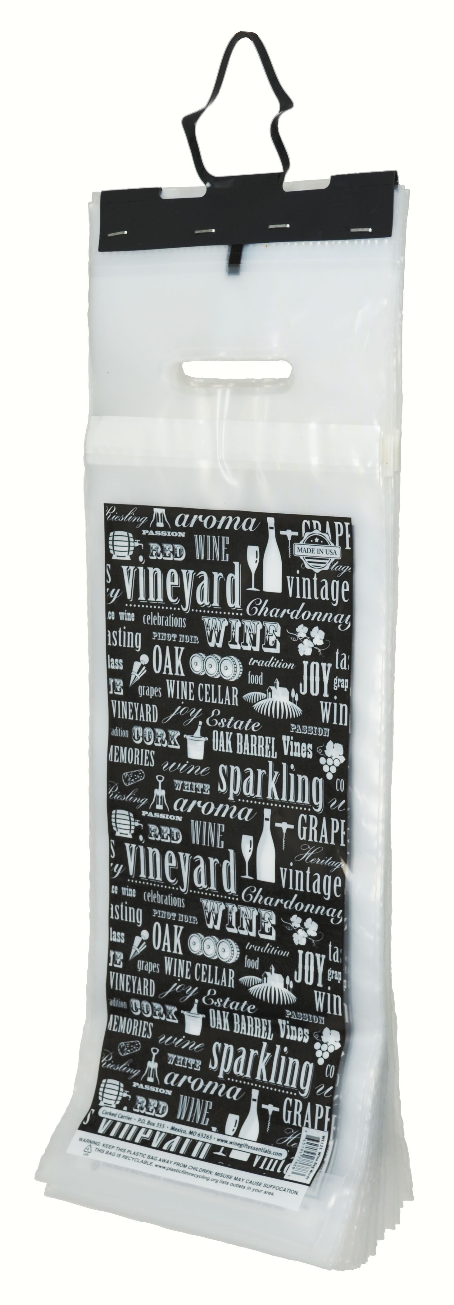 Cork Carrier Wine Words