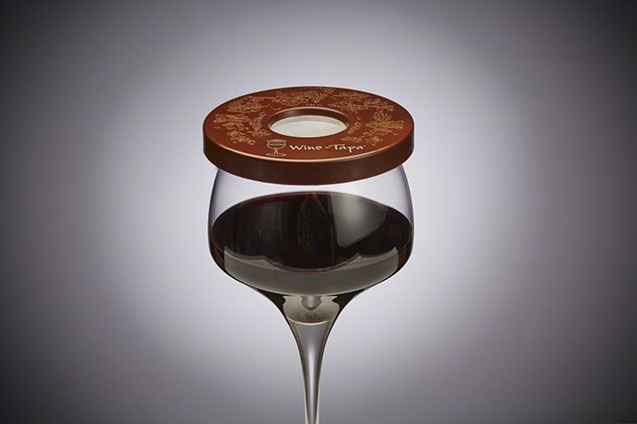Wine Glass Cover - Chocolate Color