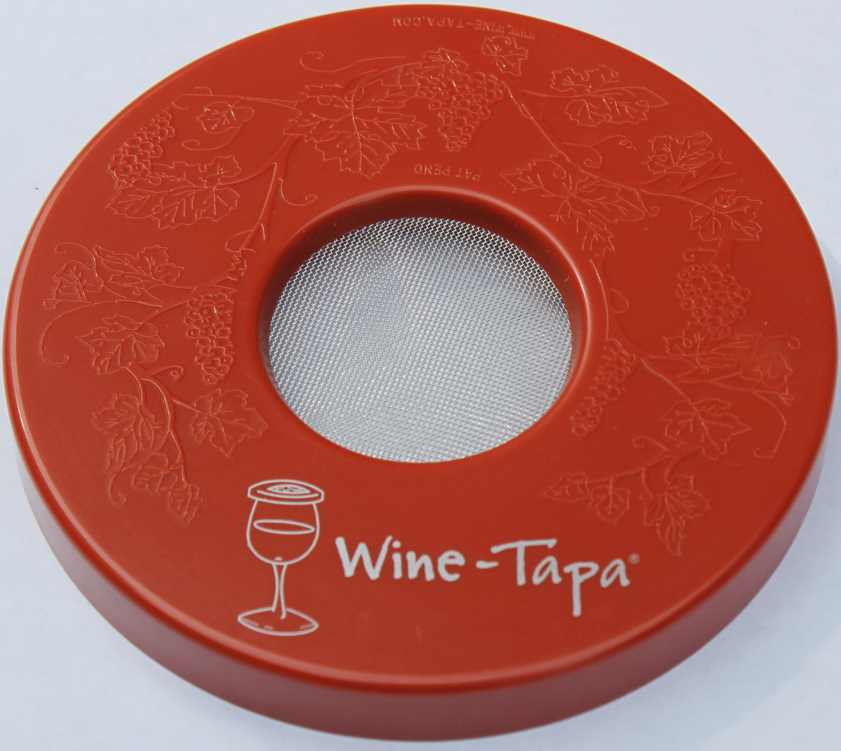 Wine Glass Cover - Terra Cotta Color