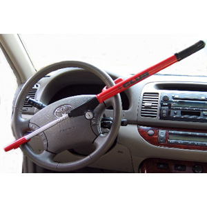 The Original Club Vehicle Anti-theft Steering Wheel Lock (Red)