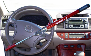 The Club LX Vehicle Anti-theft Steering Wheel Lock (Red)