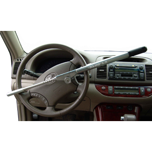 The Club LX Vehicle Anti-theft Steering Wheel Lock (Chrome)