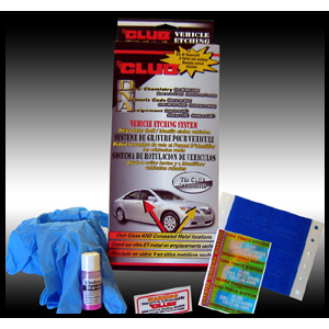 The Club DNA Vehicle Identification & Theft Prevention Kit