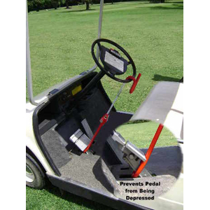 The Club Golf Cart Pedal-to-Wheel Lock