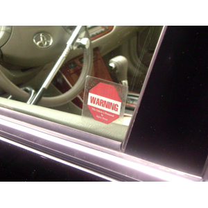 The Club Vehicle Anti-Theft Security Alarm Decals