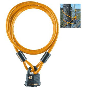 The Club 7' Yellow Security Cable & Weatherproof Padlock
