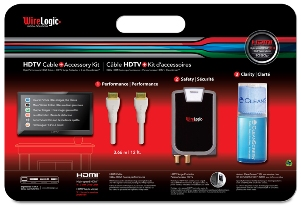 HDTV Cable Value Kit - HDMI Cable, HDTV Cable, Surge protector, Screen Cleaner, Power Surge