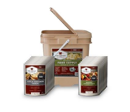 Wise Foods 56 Serving Breakfast/Entree Grab and Go Food Kit
