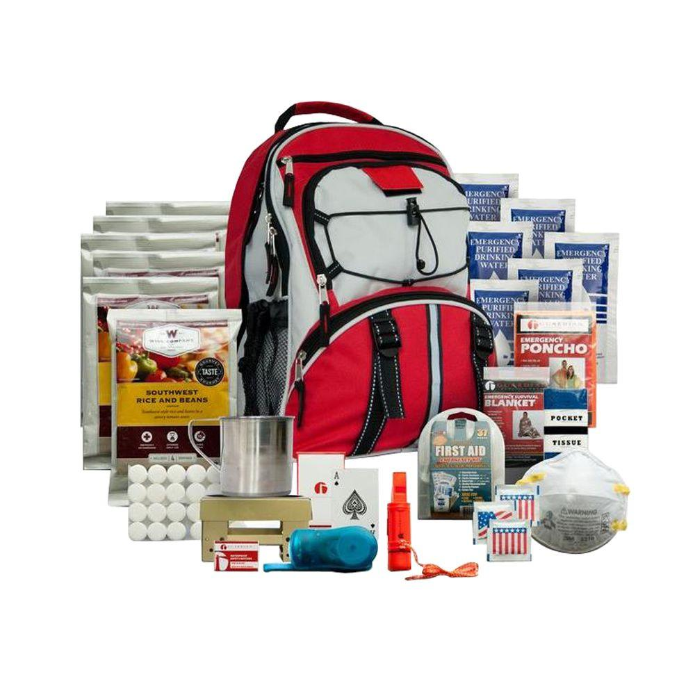 Wise Foods 5 Day Survival Backpack (Red)