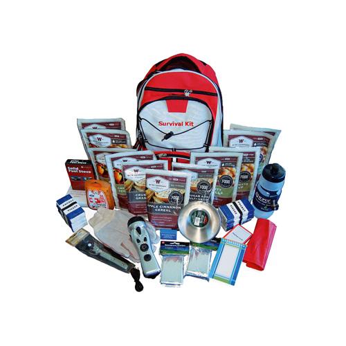 2 Week Essential Survival Backpack (Red)