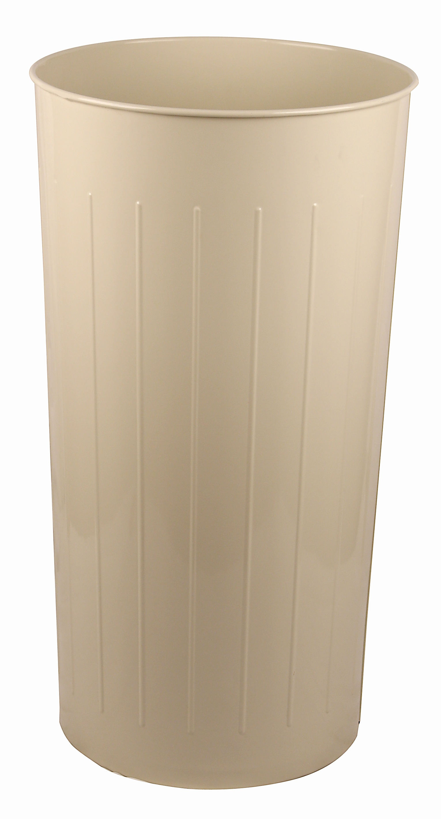 Tall Round Wastebasket, Almond