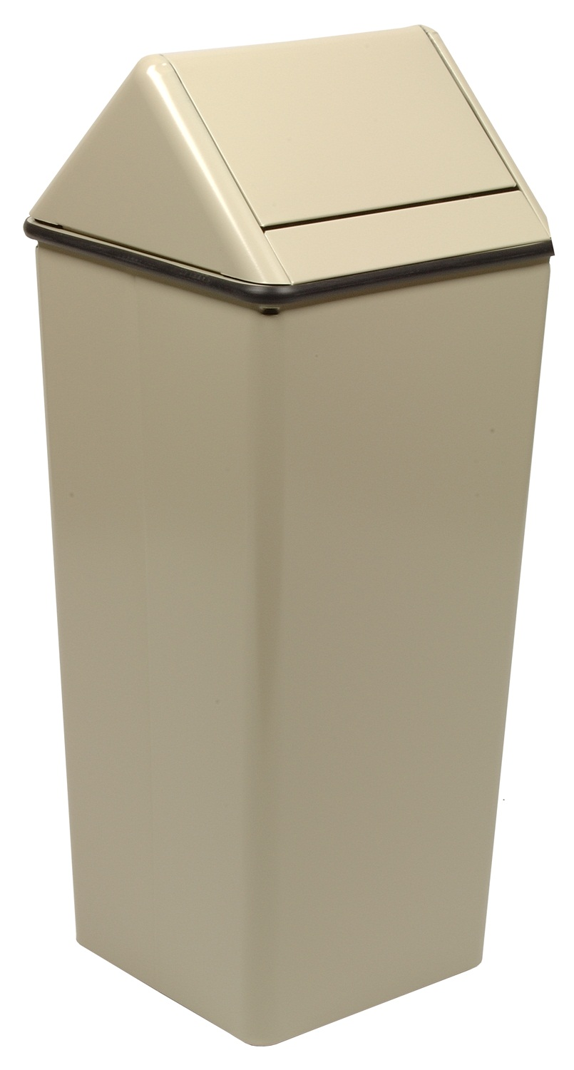 Small, Painted Hamper And Swing Top, Almond
