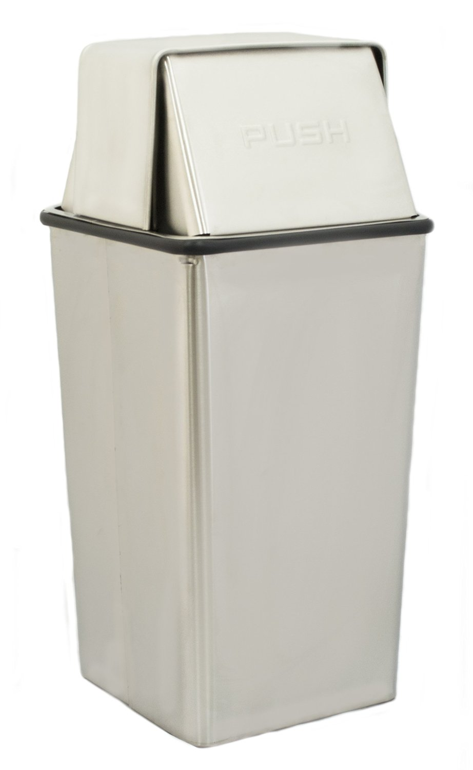 Small, Stainless Steel Hamper And Push Top